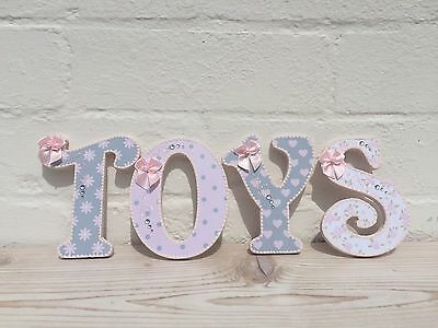 """4"""" Wooden Letters Ideal For Toy box, Wall, Door Hanging, Baby Nursery, Play Room"""