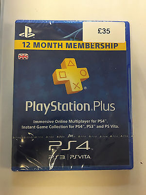 PlayStation Plus PSN UK 12 Month Card / 1 Year Key / 365 Days Code (PS4 & PS3)