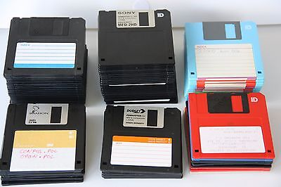 "Lot of 91 Tested and Reformatted Floppy Disks 3.5"" Diskettes - Sony, Maxell, TDK"
