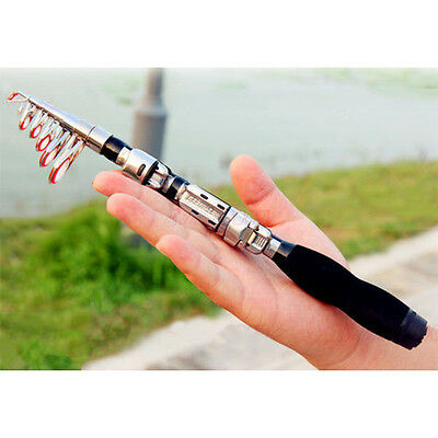 Carbon Fiber Telescopic Pocket Fish Rod Travel Spinning Pole,3BB Spining Reel