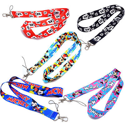 Mickey Minnie Mouse Neck Strap Lanyard Keychain Phone Card ID Document Holder