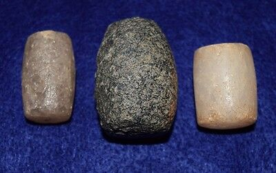 3 large polished cylinders possibilities, labret, undrilled beads, pestle, other