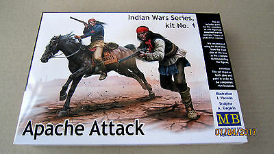 Guerre Indiennes KIT MASTER BOX 1//35 n° 35188 ATTAQUE APACHE