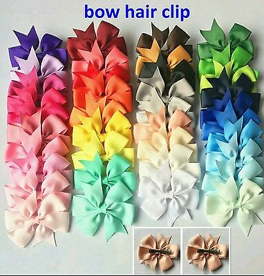 wholesale bulk joblot girls hair bows clips x 100 only 30p each triple ur money