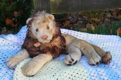 Fantastic Large Old Steiff 'leo' Lion - With Chest Label C.1950S