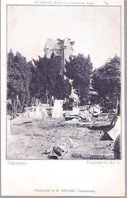 Valparaiso, Chile - Cementerio No. 1 (Cemetery) - undivided back postcard c.1905