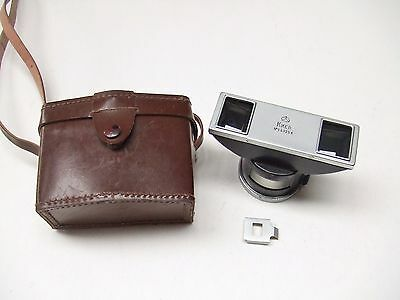 Kiev Stereo Adapter With Viewfinder Mask + Case. Contax Bayonet Fit