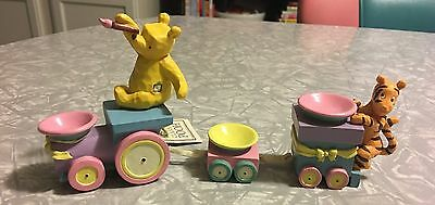 Retired Classic Pooh 3-pc Easter Egg Train Set - Pooh/Tigger/Piglet (for parts?)