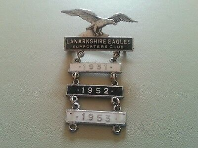 Rare Original 1950's Motherwell Speedway Badge With Year Bars