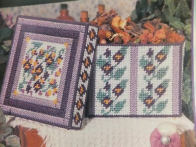 Beautiful Spring Violets  Box Pattern(s) in Plastic Canvas