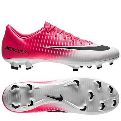 Nike Mercurial Victory VI FG Soccer Cleats Racer Pink / Black-white Us Kids Size