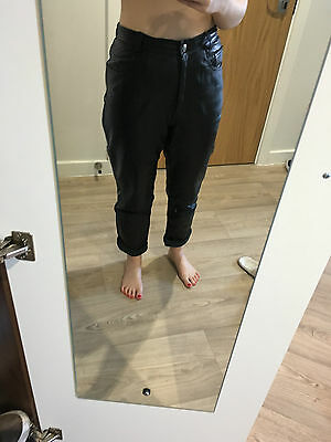 High Waisted leather vintage trousers