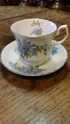 Royal Stafford Tea Cup and Saucer - July