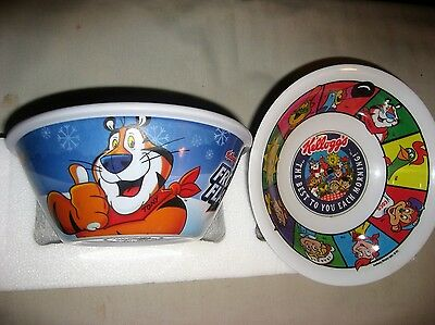 Two Kelloggs Cereal Bowls - Tony Tiger Frosted Flaked & Best To You Each Morning