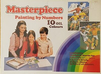Vintage Kitfix Hobby's Limited Masterpiece Painting by Numbers Oil Item No. 1180