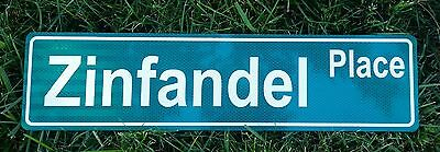 Street Name Sign Reflective Background, Custom Text, Decal & Color Options