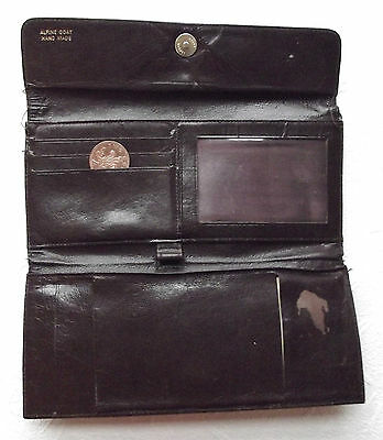 Vintage Alpine goat cheque book holder wallet handmade 1990s Lichfield Leather