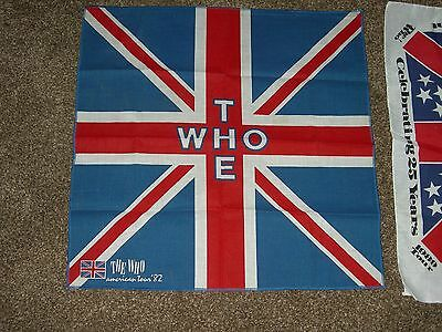 the who rock band american tours bandana 1982 and 1989 vintage