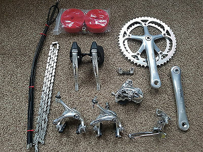 Groupset, Beautiful Campagnolo Chorus 9 Speed Record Titanium Era / Vintage