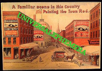 American Victorian Era Red Soap Trading Card Kendall Mfg Co Providence RI EX con