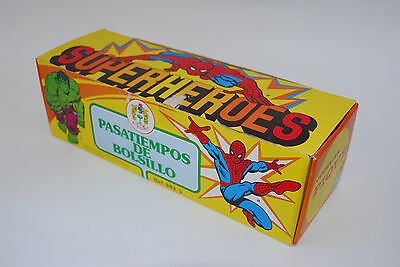 Incredible Hulk Spider Man Puzzle Ball 24 Games Shop Display Box Ultra Rare 1981