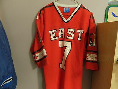 """rare 1970s CFL ALL-STAR jersey ''EAST"""" size Large made by CHAMPION CFLPA #7"""