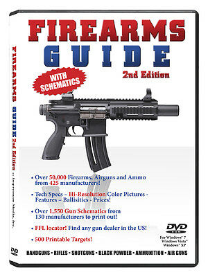 Firearms Guide 2nd Edition - gun guide and schematics library on DVD for Windows