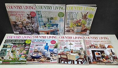 Country Living 6 copies of the magazine from 2016 & one from 2017