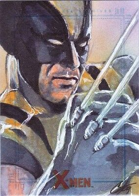 2009 X MEN ARCHIVES - CAT STAGGS SKETCH of Wolverine * RARE *