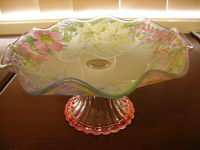 Reduced - Soga Glass Japan Cake Stand