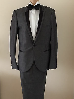 Tuxedo/dj Suit By Ventuno 21 Size 40 Chest,36 Waist,30 Leg Formal Cruises Etc