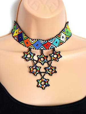 African Masai Ethnic Collar Summer Colourful Necklace, Fairtrade Holiday Gifts
