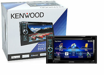"""Kenwood Double Din 6.1"""" Car Monitor Receiver w/ Built in Bluetooth New DDX371"""