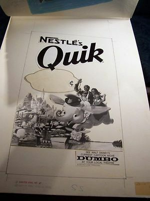 Disney Dumbo Record Book Record Album Nestle Promo Set Nestle Quick Dumbo