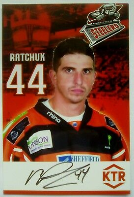 Auto'd MIKE RATCHUK 16-17 Sheffield Steelers team issued photo GUILDFORD FLAMES