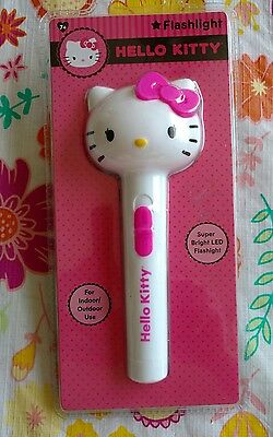 Hello Kitty Super Bright LED Flashlight  Indoor/Outdoor Use New Sealed Package!