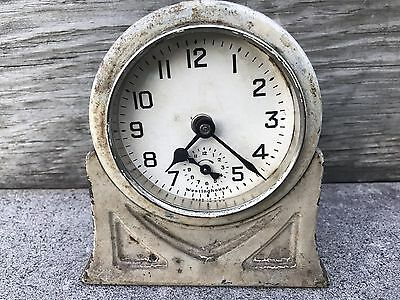 Antique 1920 Vintage Westinghouse Range Working Alarm Clock Very Heavy Cast
