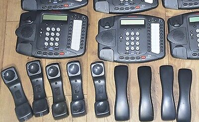 Lot of 5 ea 3com Charcoal 3102 NBX VOIP Phones With Stand And Receiver