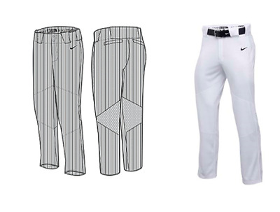 NWT NIKE Men Vapor Pro Baseball Pant Large White 747241 $65.00