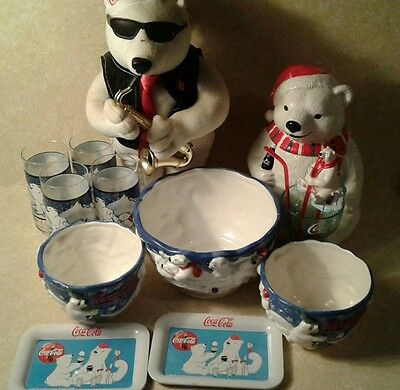Coca-Cola Polar Bear Collection mixed misc lot