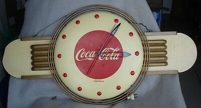 1940s Coca Cola Kay Display Clock Coke Advertising 18 in center button