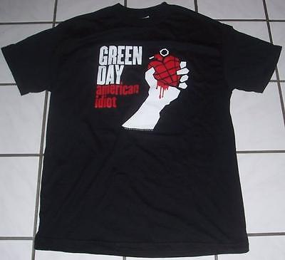 2004 Authentic GREEN DAY American Idiot Black Shirt M/Medium Concert/Tour l