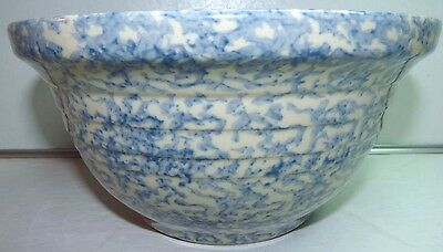 FRIENDSHIP POTTERY Spongeware Blue Two Quart Mixing Bowl Gerald Henn Style