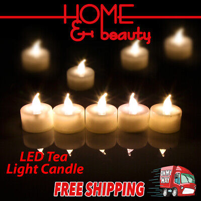 Led Tea Light Tealight Candle Flameless Wedding Decoration Battery Included