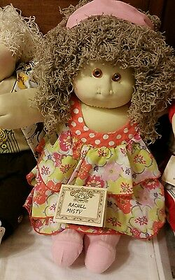 Cabbage Patch Soft Sculpture baby by Xavier Roberts 1989 Hand Signed Tiger Eyes
