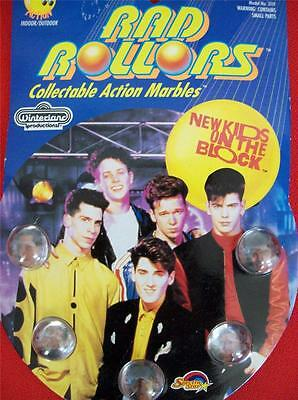 NEW KIDS ON THE BLOCK COLLECTIBLE ACTION MARBLES 1990 (MIP) Model # 3119