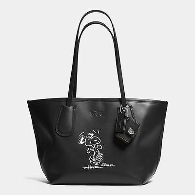 New Coach Dancing Snoopy Tote Ltd Edition 2015