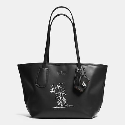 REDUCED PRICE New Coach Dancing Snoopy Tote Ltd Edition 2015