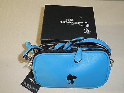 REDUCED PRICE Coach 2015 Brand New Limited Edition Peanuts Snoopy Bag in Blue