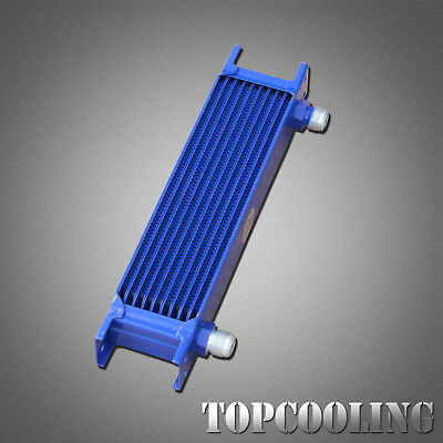 New Blue 10 Rows AN10-AN Engine Transmission Oil Cooler Aluminum